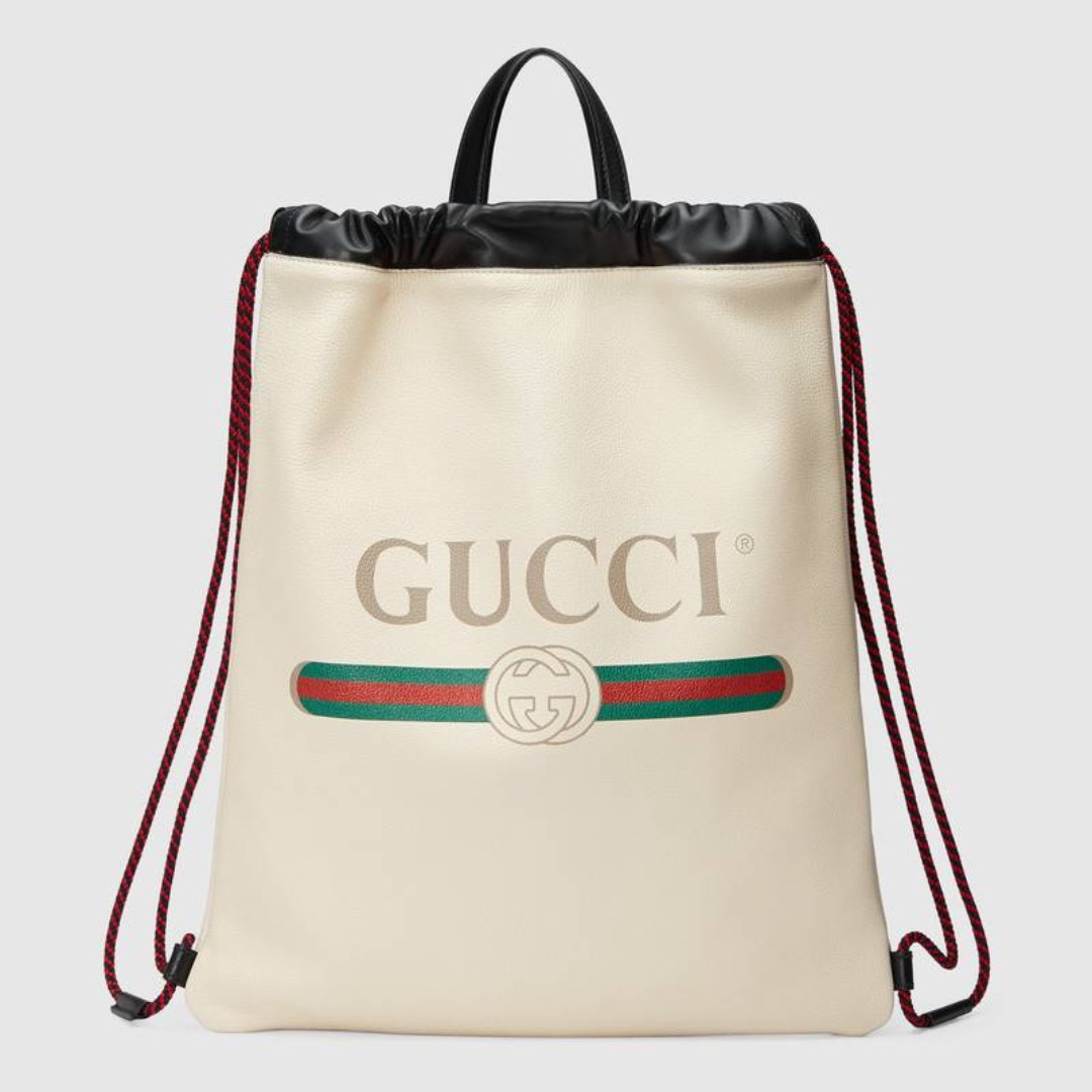 e7ea31d493 GUCCI Gucci Print leather drawstring backpack