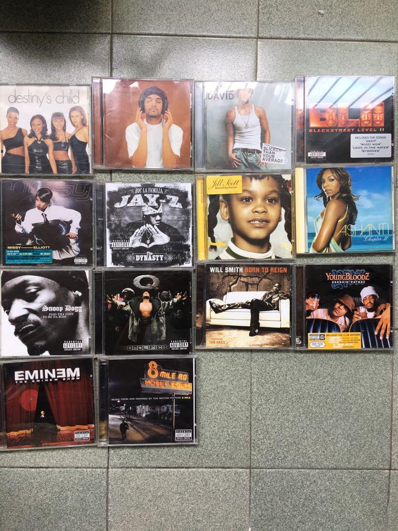 Hip Hop r&b soul CDs (Eminem, Snoop Dogg, Q-tip, Craig David)