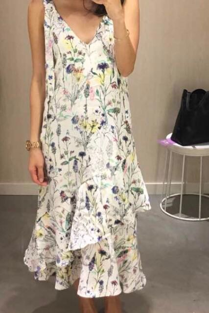 5b24dadd7899 H&M Floral Tiered Dress V-Neck, Women's Fashion, Clothes, Dresses ...
