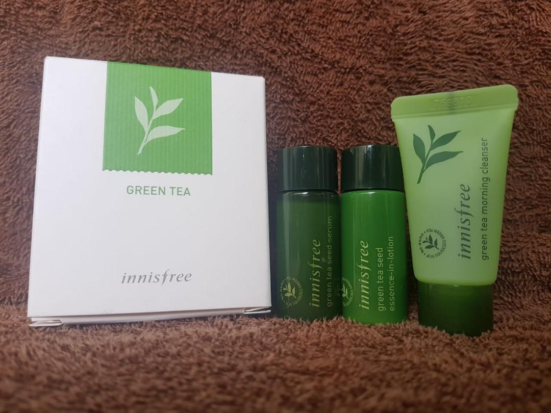 Innisfree Trial Kit - Green Tea Kit for Morning (8 barang)
