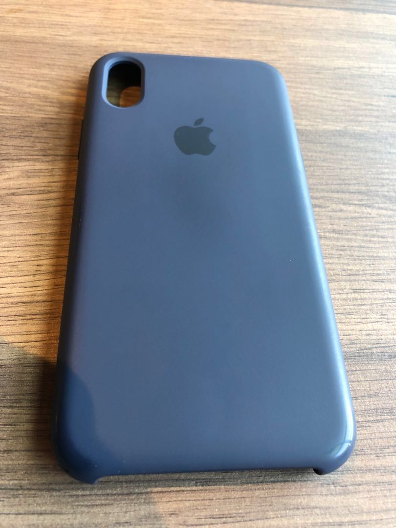 competitive price 54ad9 7d4d2 iPhone X Apple midnight blue silicone case
