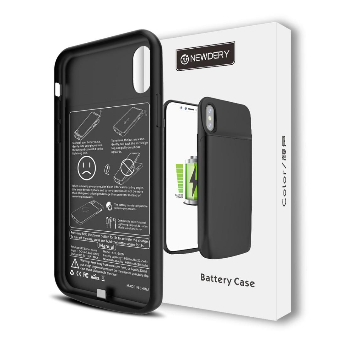 iPhone XS Max Slim Rechargeable Battery Case (5000mAh)