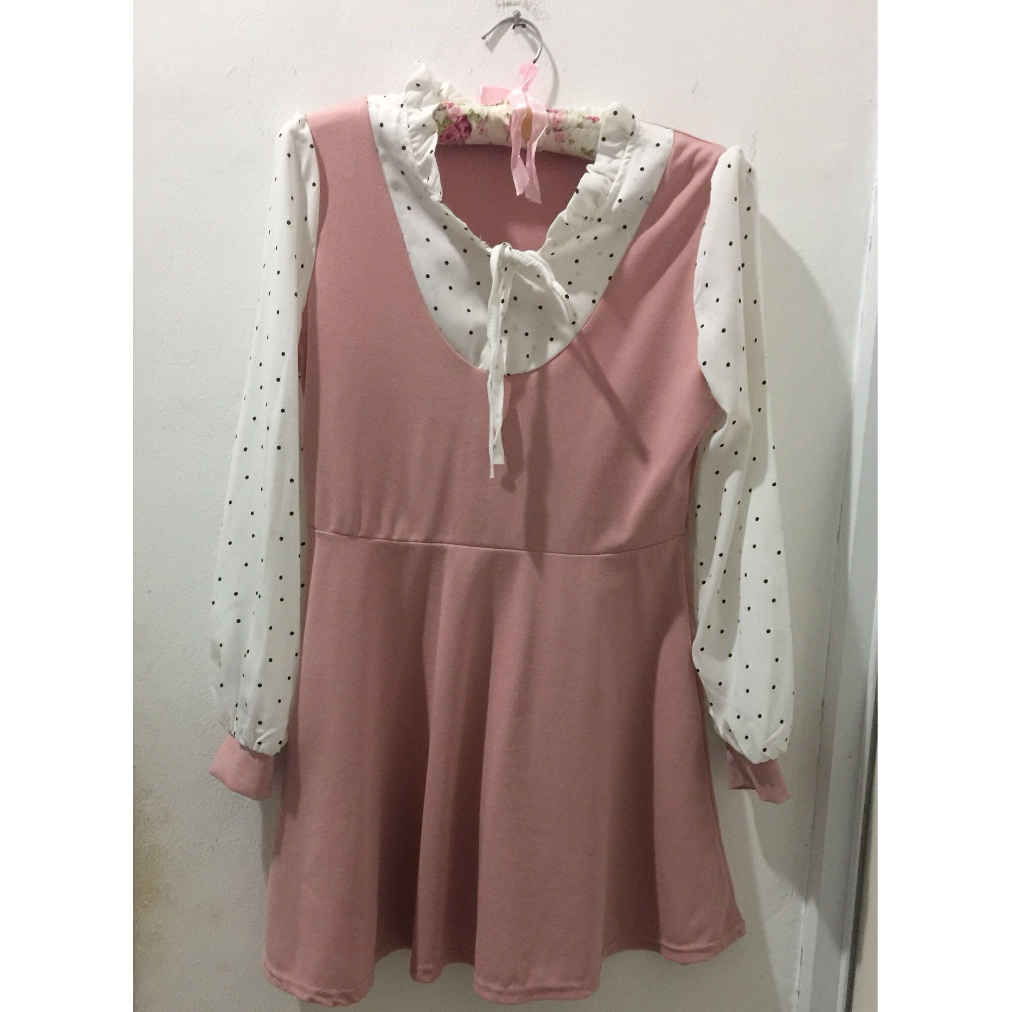 Korean Dress baby pink