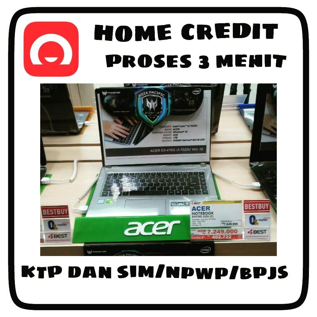 Laptop Acer Bisa Kreddit Proses 3 Menit