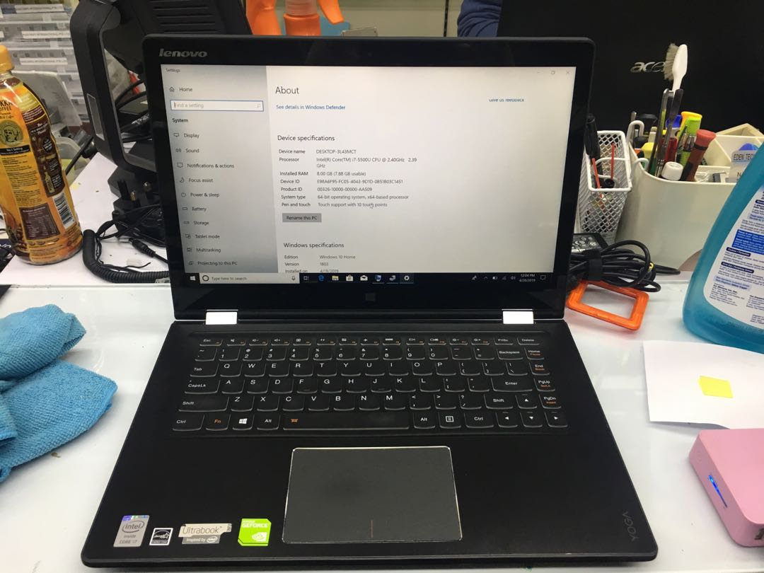 Lenovo Yoga 3 touch screen Laptop