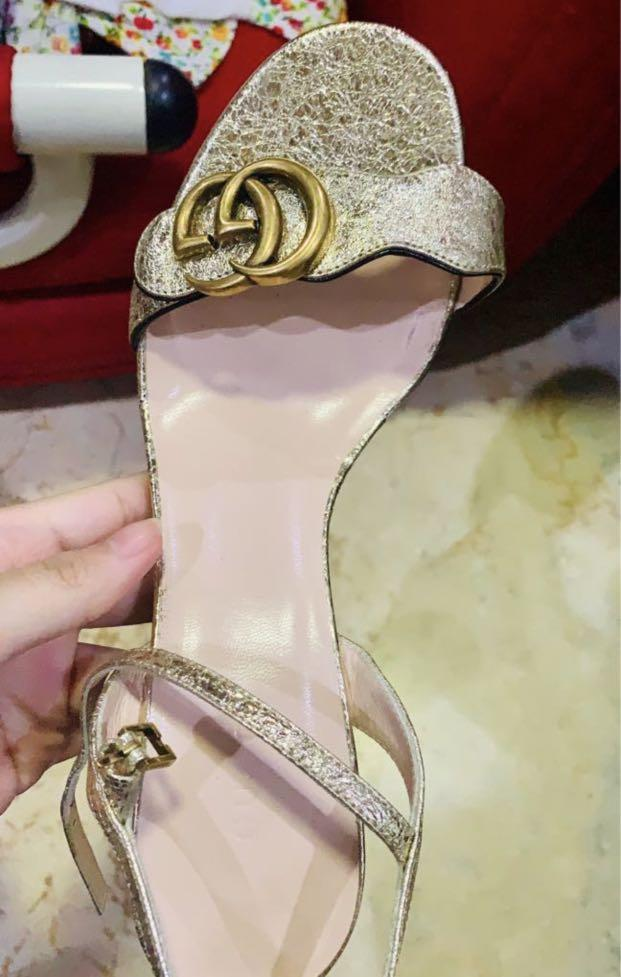 Luxury gold gucci asli