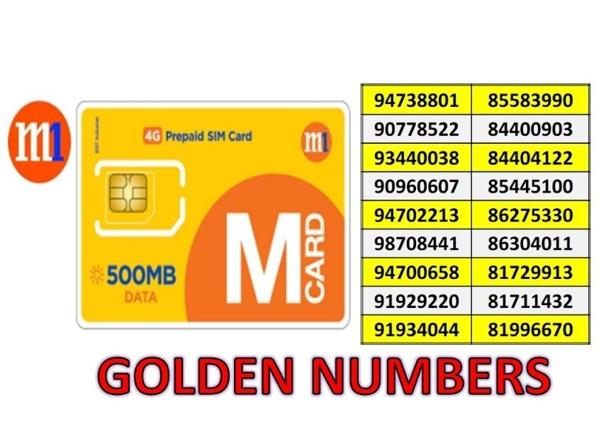 M1 Simcard- Golden Numbers