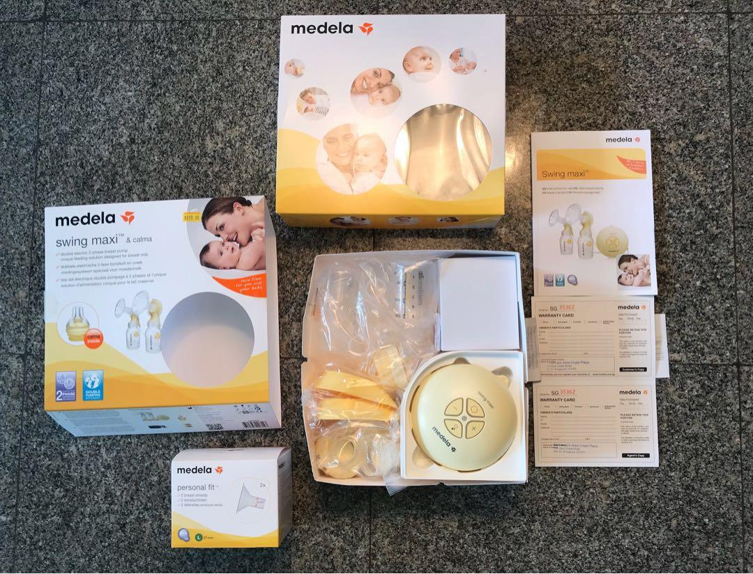 Medela Swing Maxi Double Electric Breastpump With Calma Babies