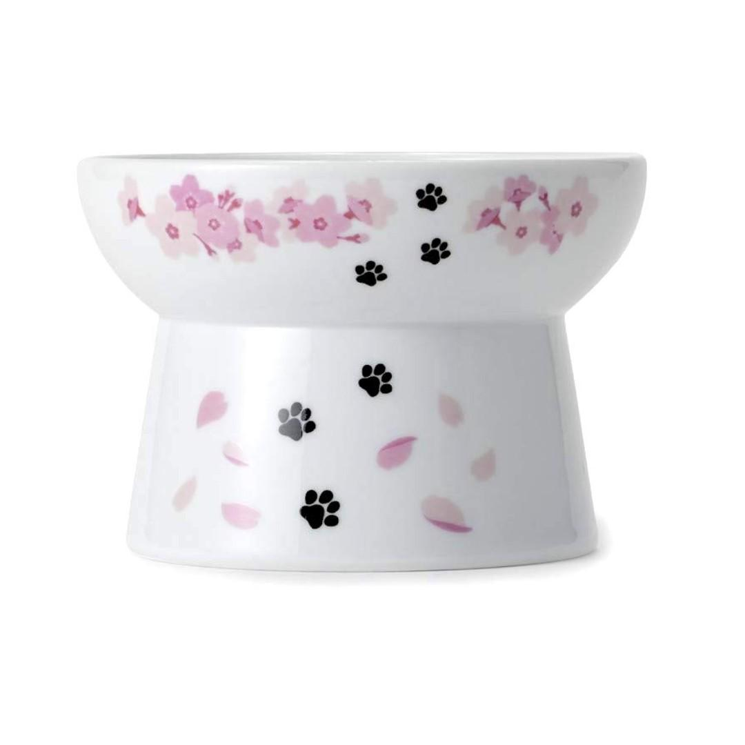 Necoichi Raised Cat Bowl - SAKURA 2019 LIMITED EDITION (1 in Stock Available!)