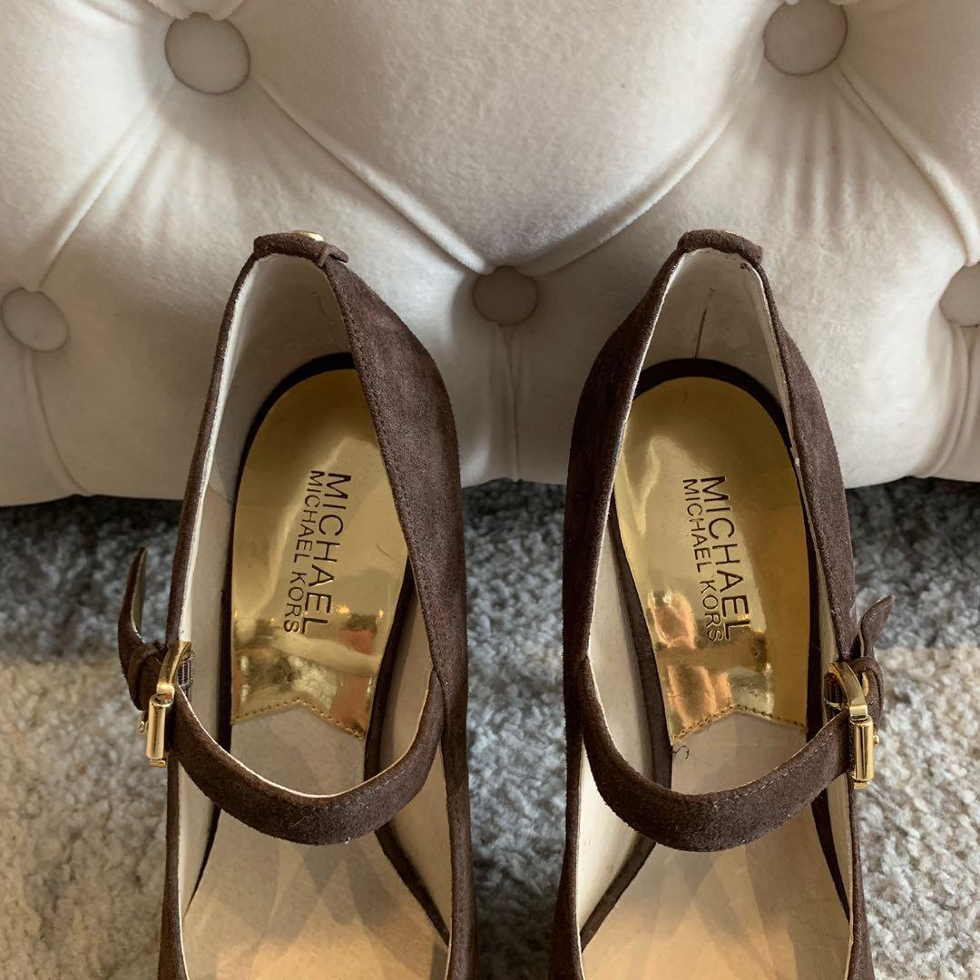 NEW! Michael Kors - Brown Suede Heels Shoes - Size 8