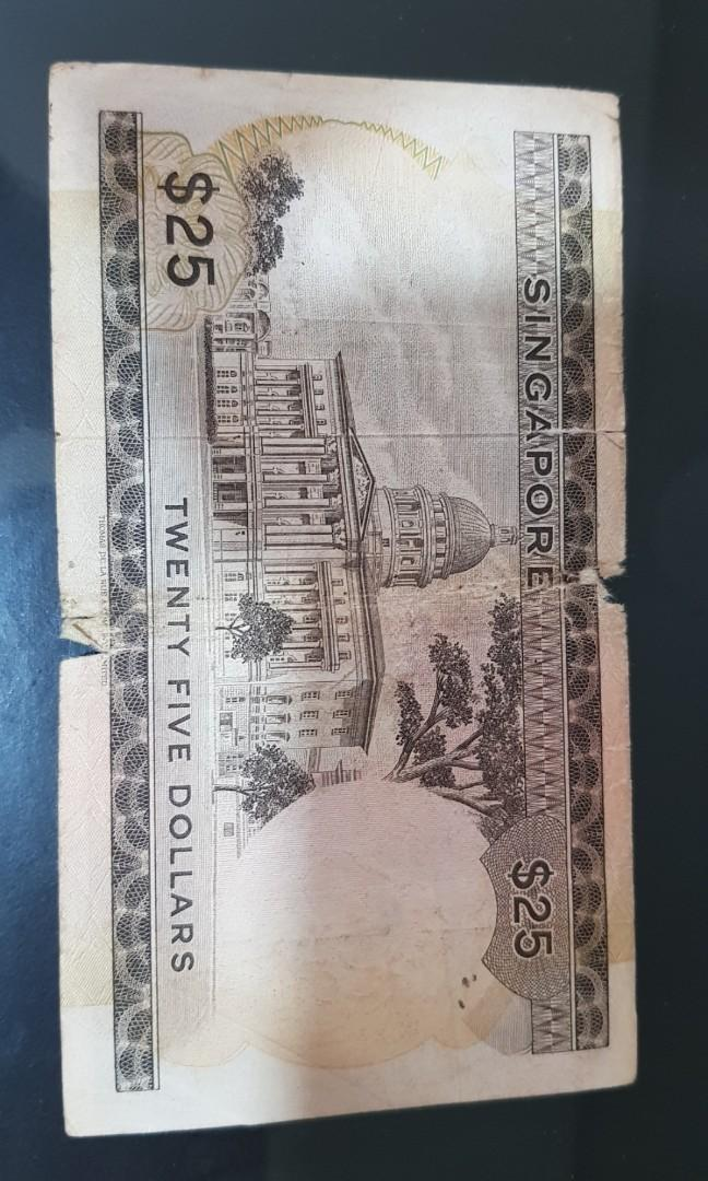 Old Note Singapore $25