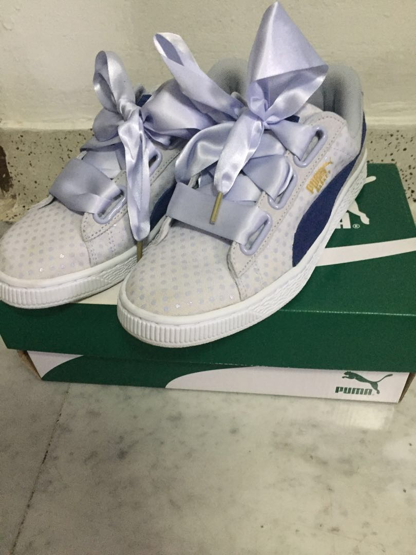 sneakers for cheap 9920c 322e7 Puma Basket Heart Denim UK4.5