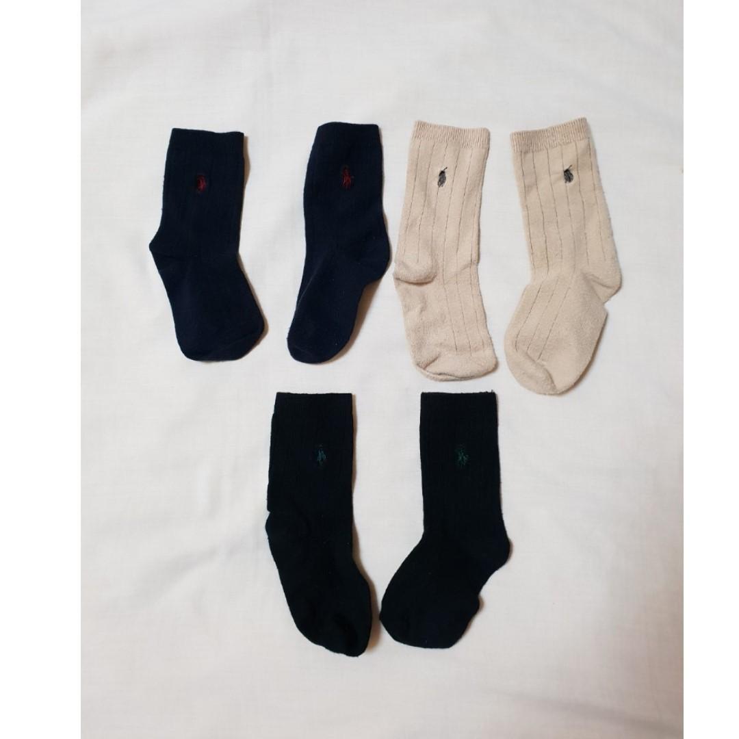 Ralph Lauren Socks, 3 pairs, Size: 3-4, Kid's Clothes