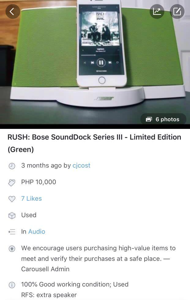 ❗️REPRICED❗️Bose SoundDock Series III on Carousell