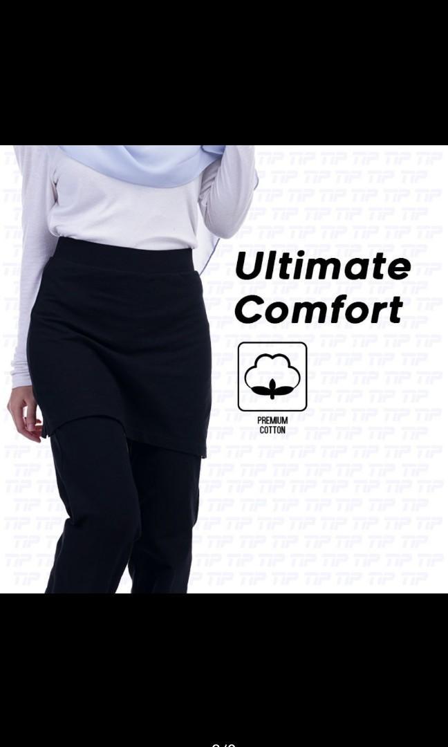MUSLIMAH SKIRT SELUAR SUKAN cotton Netball/Hiking/Gym/Fitness/Zumba (BOOTCUT)