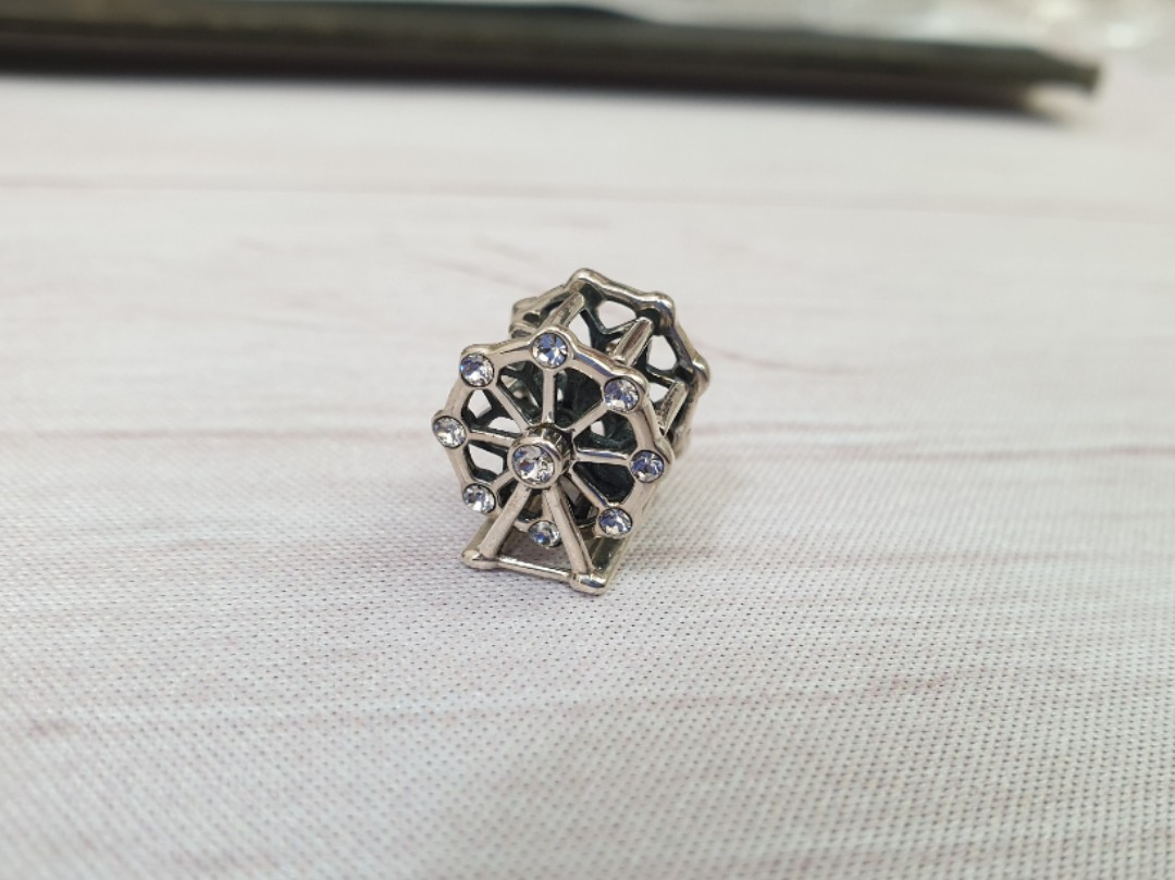 5af03082d 925 Spinning Ferris Wheel Sterling Silver Charm Bead fits Pandora ...