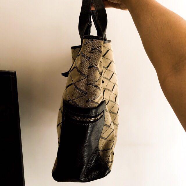 Tas Tote Bag Fossil Emerson Satchel Grey/Black ORIGINAL (bisa nego)
