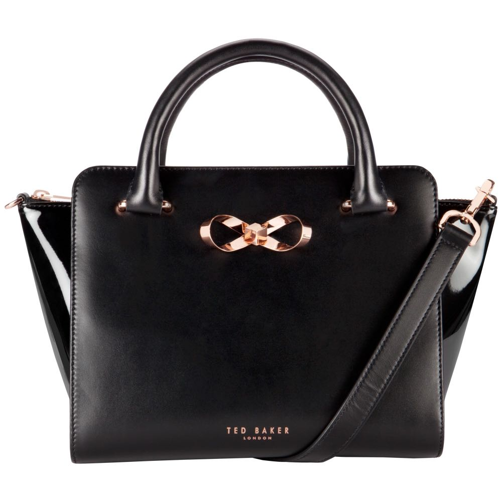 a65484178 Ted Baker Paiton Bow Leather Tote Bag, Black, Luxury, Bags & Wallets ...