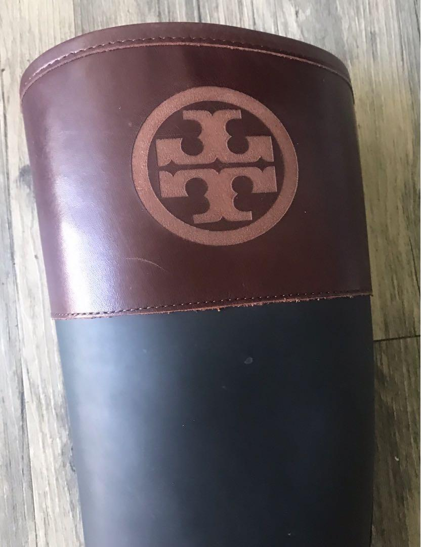 Tory Burch Diana Rubber Boots Size 9