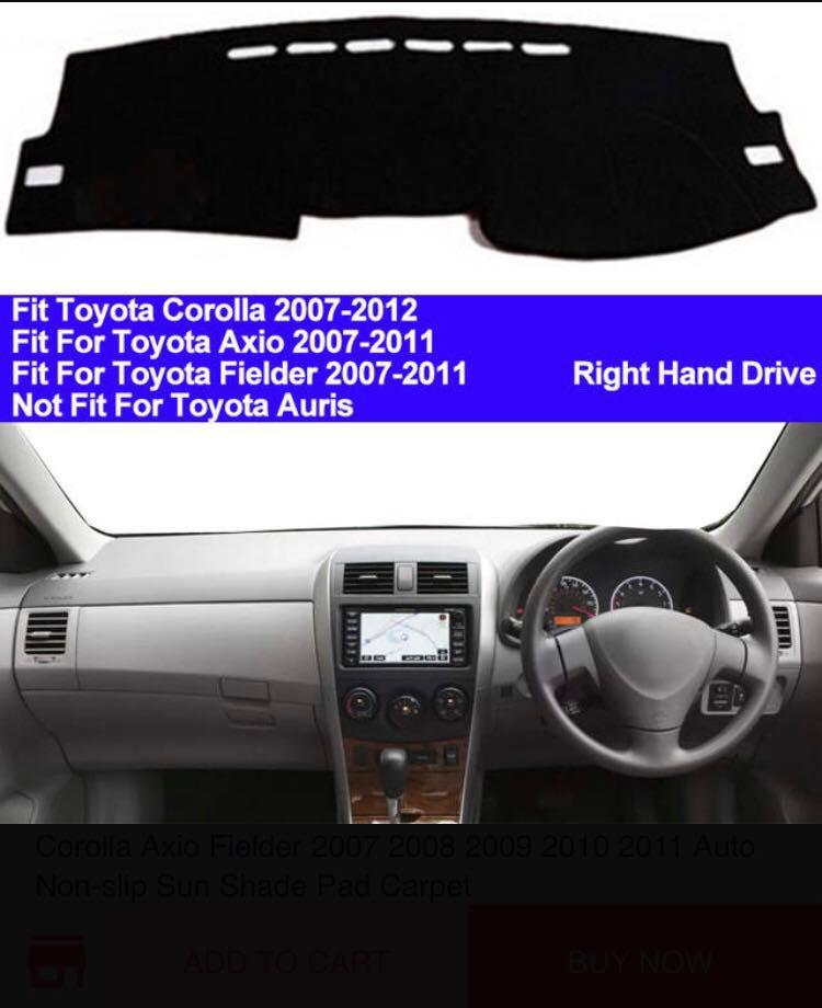 Toyota Altis Axio dashboard cover dash mat - black carpet