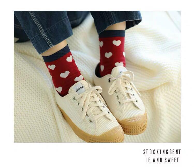 Ulzzang Heart Socks