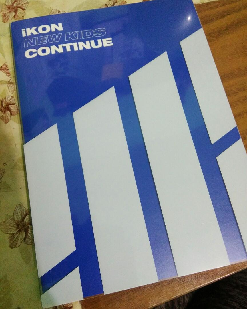 (UNSEALED)IKON ALBUM ONLY NEW KIDS CONTINUE BLUE VER