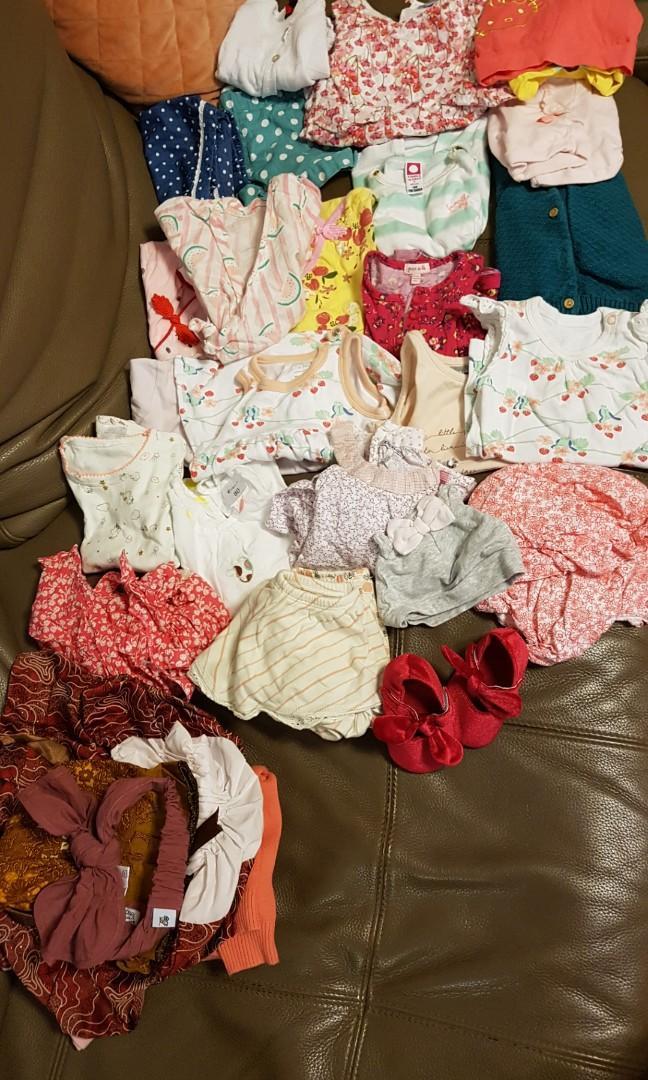 Used Premium baby girl clothes 24 pcs+++