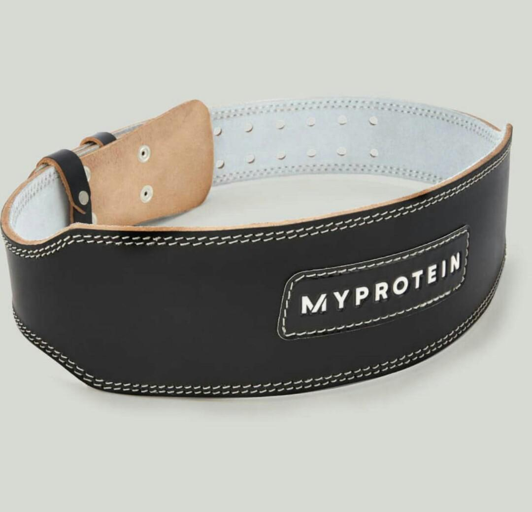 AUTHENTIC MyProtein Leather Weight Lifting Belt