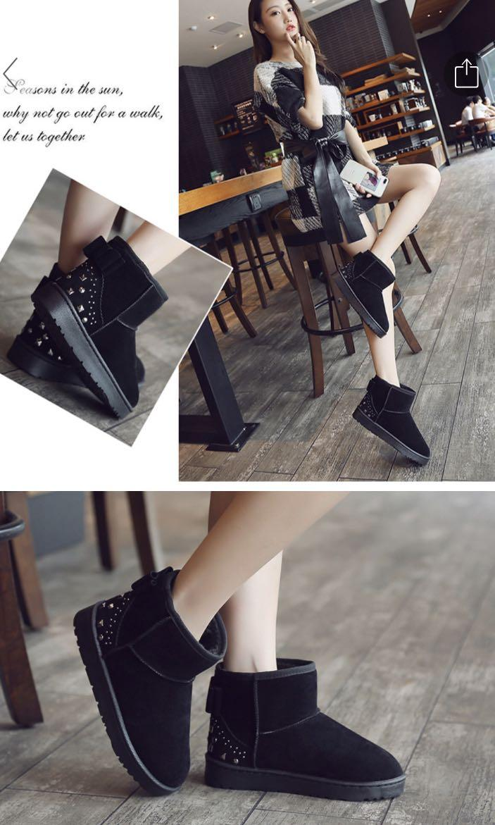 💕*WINTER WEAR* BLACK ANTI SLIP WINTER BOOTS💕