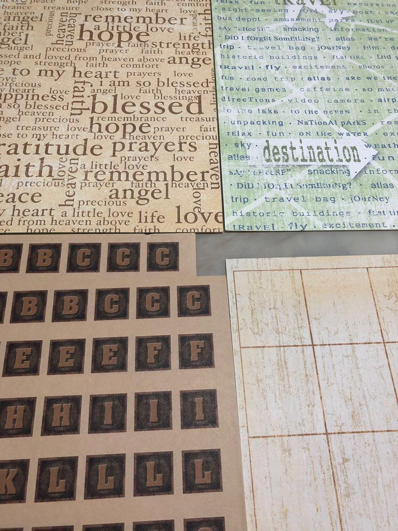 Words and Lines design Soft Scrapbooking Paper for art craft #mrtwoodlands