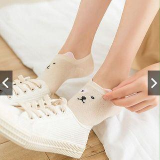 🚚 [pre-order] cute animal themed ankle socks with fluffy ears
