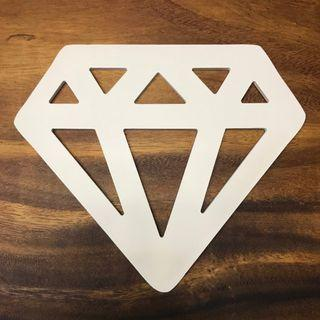 Wooden Diamond sign for decor