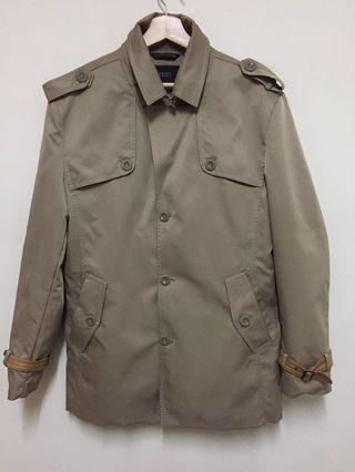 百貨專櫃品牌Gaudi Homme 時尚紳士卡其色風衣外套XL