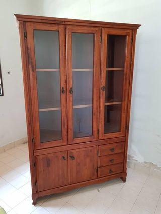 Solid Hard Wood Kitchen Cabinet