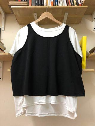 3-pieces singlet-out-shirt and 3/4 pants