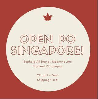Open PO Singapore 29 april - 7 mei