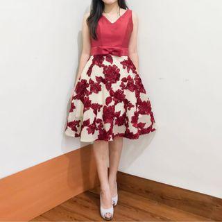Red Gown - Gaun Pesta - Gaun sweet seventeen - party dress
