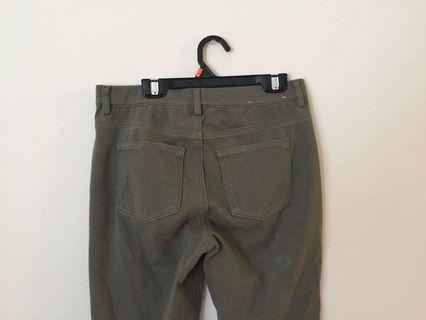 Olive Green Uniqlo Extra Stretch Jeggings (S)