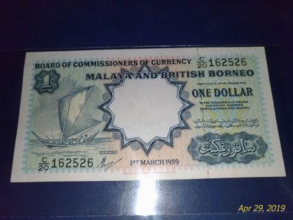 1 dollar  Malay and British 1march1959