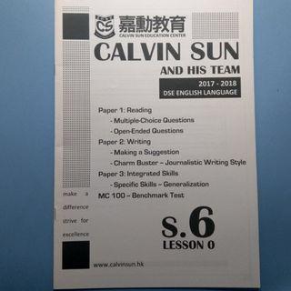 Calvin Sun One Day Notes