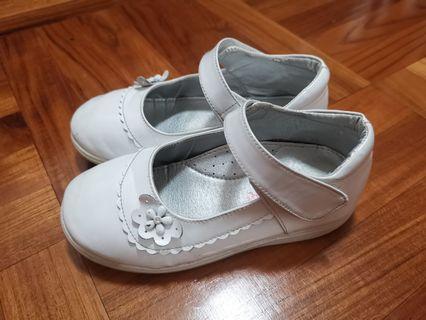 白色返學皮鞋 (漆皮面) White School Kid Shoe 小學生幼童