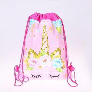 🦄 Unicorn Party Drawstring Bags