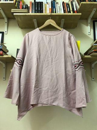 Pink Embroidery Saloma Top