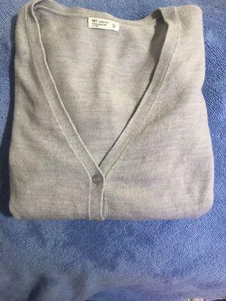 🚚 Net灰色針織外套 L