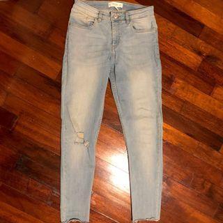 Mango Jeans ISA Skinny Regular Waist Denim