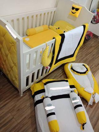 Baby Cot Customade Dion Size Luxury Baby Yellow
