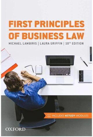 🚚 First Principles of Business Law 10th Edition