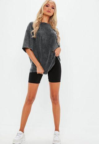 Grey oversize washed T-shirt - Missguided