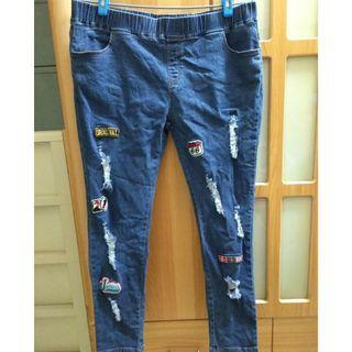 3XL大尺碼窄管褲