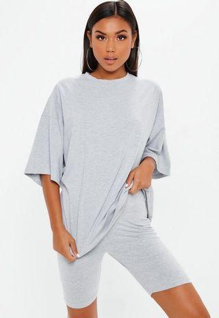 Gray Oversized T Shirt - Missguided
